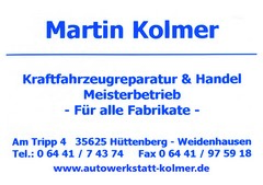 Martin Kolmer Kfz-Reparatur & Handel